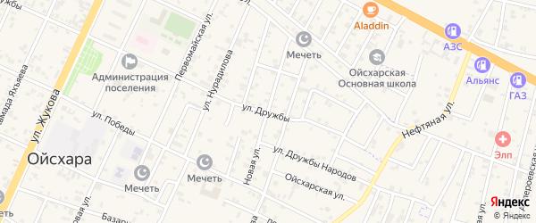 Новая улица на карте поселка Ойсхары с номерами домов