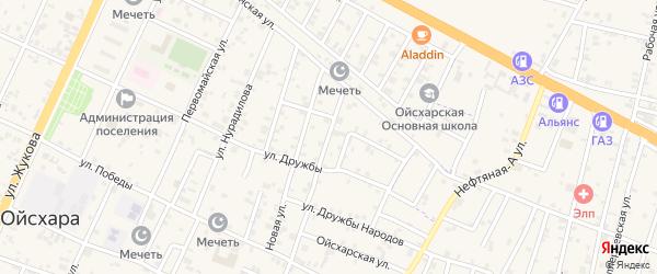 Молодежная улица на карте поселка Ойсхары с номерами домов