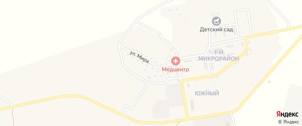 Улица Мира на карте села Успенки с номерами домов