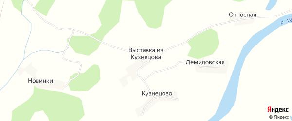 Карта деревни Выставка из Кузнецова в Архангельской области с улицами и номерами домов