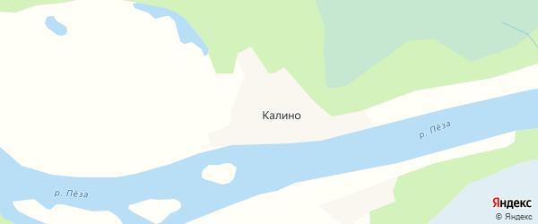 Карта деревни Калино в Архангельской области с улицами и номерами домов