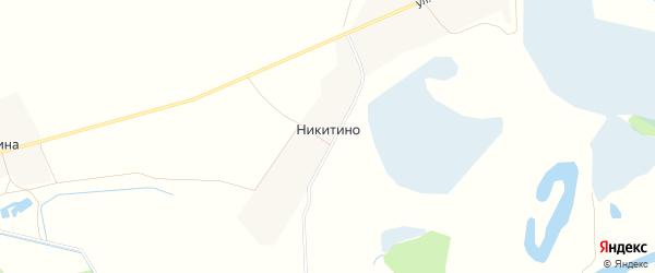 Карта деревни Никитино в Чувашии с улицами и номерами домов