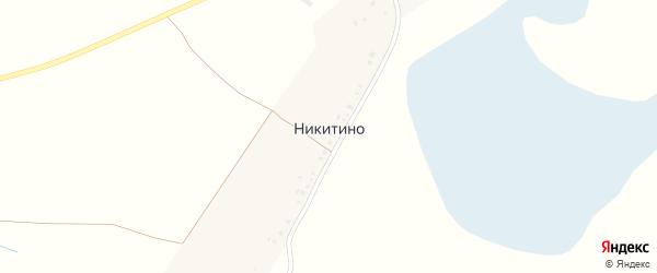 Заречная улица на карте деревни Никитино с номерами домов