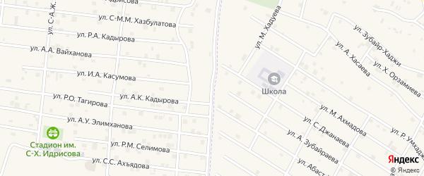 Улица А.А.Вайханова на карте села Центарой с номерами домов