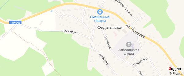 Лесная улица на карте Федотовской деревни с номерами домов