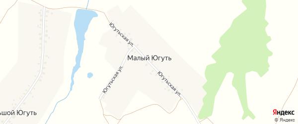 Югутьская улица на карте деревни Малого Югути с номерами домов