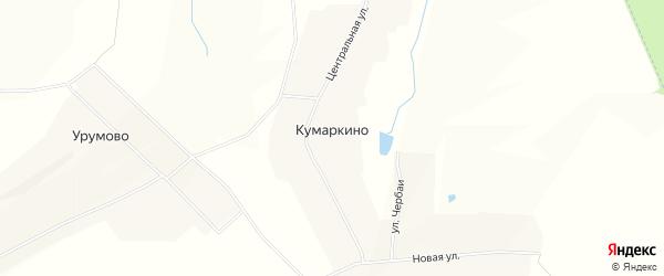 Карта деревни Кумаркино в Чувашии с улицами и номерами домов