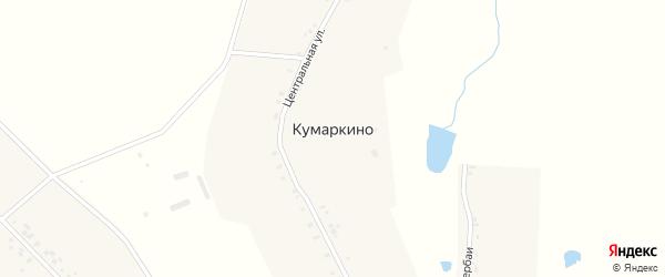 Центральная улица на карте деревни Кумаркино с номерами домов