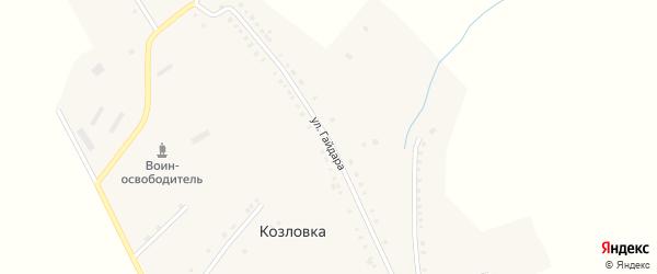 Улица Гайдара на карте села Козловки с номерами домов