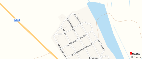Улица Гагарина на карте села Грачи с номерами домов