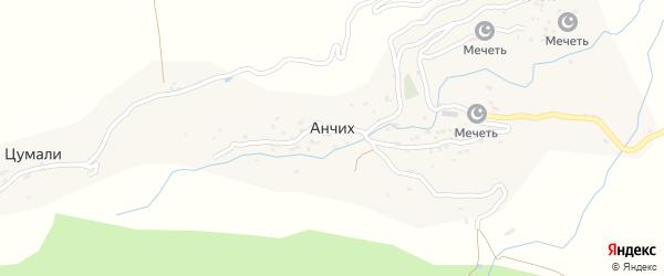 Анчихская улица на карте села Анчиха с номерами домов
