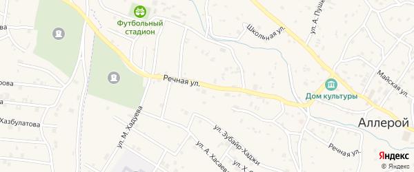 Речная улица на карте села Аллерой с номерами домов