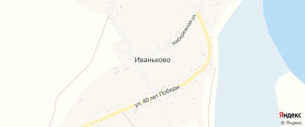 Первомайская улица на карте деревни Иваньково с номерами домов