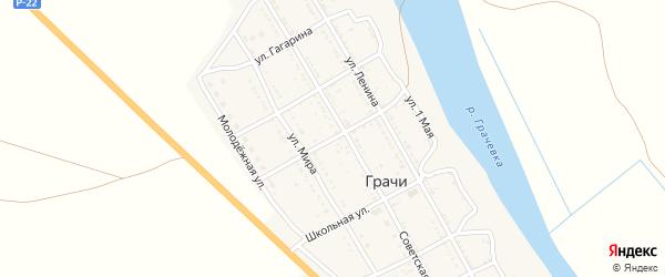 Улица М.Горького на карте села Грачи с номерами домов