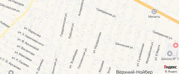 Грозненская улица на карте поселка Ойсхары с номерами домов