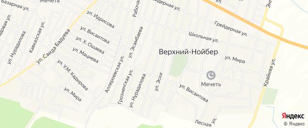 Карта села Верхний-Нойбер в Чечне с улицами и номерами домов