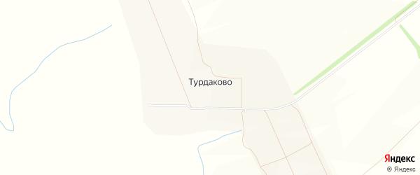 Карта села Турдаково в Чувашии с улицами и номерами домов