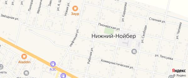 Рабочая улица на карте села Нижний-Нойбер с номерами домов