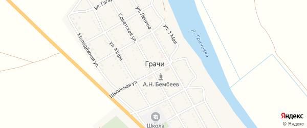 Улица Молодой Гвардии на карте села Грачи с номерами домов