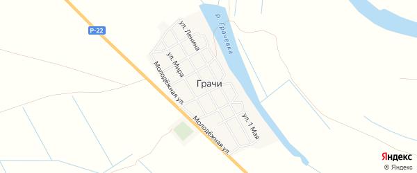 Карта села Грачи в Астраханской области с улицами и номерами домов