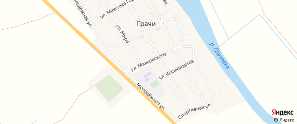 Улица Маяковского на карте села Грачи с номерами домов