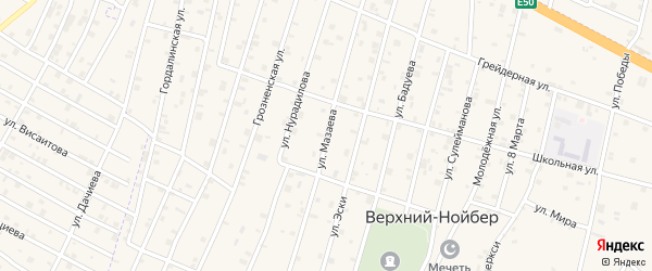 Улица Мазаева на карте поселка Ойсхары с номерами домов