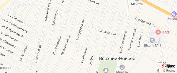 Улица Мазаева на карте села Верхний-Нойбер с номерами домов