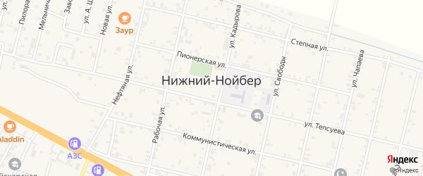Гордалинская улица на карте села Нижний-Нойбер с номерами домов