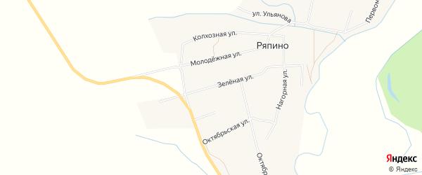 Карта села Ряпино в Чувашии с улицами и номерами домов