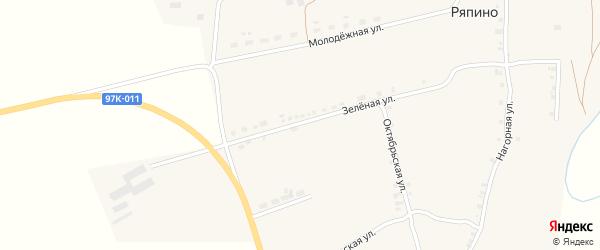 Луговая улица на карте села Ряпино с номерами домов