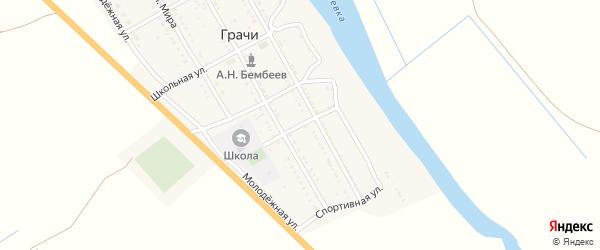 Улица Космонавтов на карте села Грачи с номерами домов
