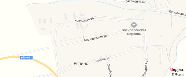 Молодежная улица на карте села Ряпино с номерами домов