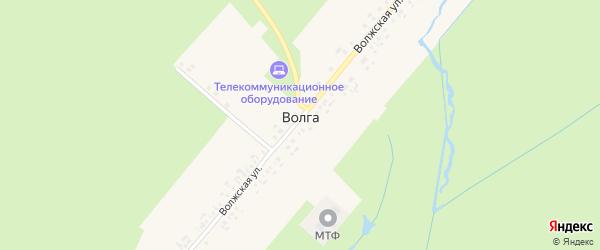 Волжская улица на карте поселка Волги с номерами домов