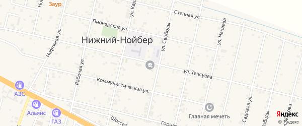 Улица К.Л.Тепсуева на карте села Нижний-Нойбер с номерами домов