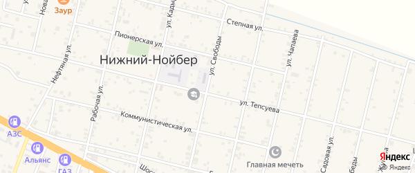 Улица Свободы на карте села Нижний-Нойбер с номерами домов