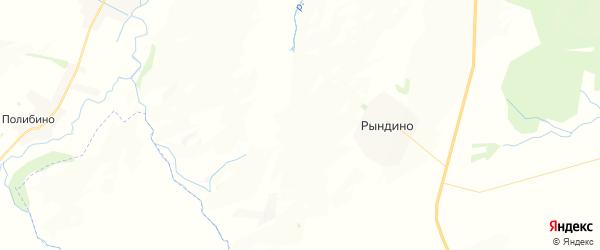Карта Рындинского сельского поселения республики Чувашия с районами, улицами и номерами домов