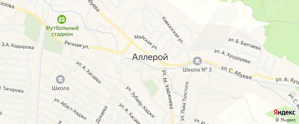 Карта села Аллерой в Чечне с улицами и номерами домов