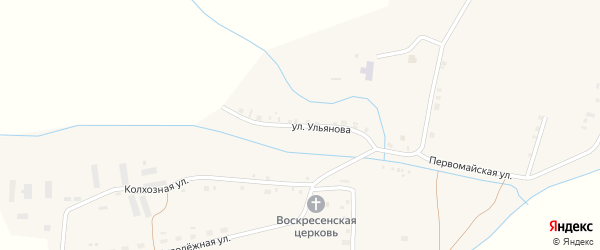 Улица Ульянова на карте села Ряпино с номерами домов