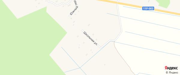 Школьная улица на карте Федотовской деревни с номерами домов