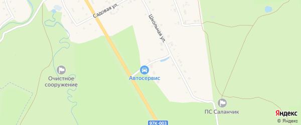 Новая улица на карте поселка Саланчик с номерами домов