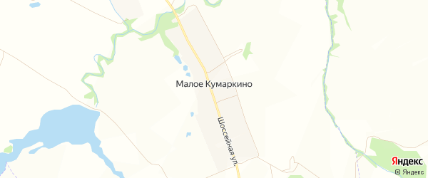 Карта деревни Малое Кумаркино в Чувашии с улицами и номерами домов