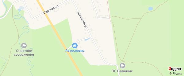 Школьная улица на карте поселка Саланчик с номерами домов