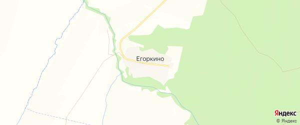 Карта деревни Егоркино в Чувашии с улицами и номерами домов