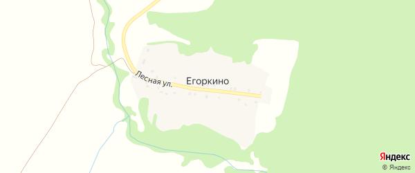 Лесная улица на карте деревни Егоркино с номерами домов