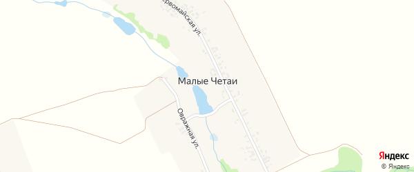 Овражная улица на карте деревни Малые Четаи с номерами домов