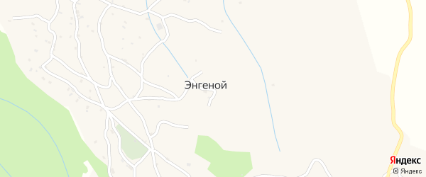 Западная улица на карте села Энгеной с номерами домов