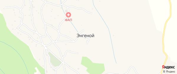 Южная улица на карте села Энгеной с номерами домов