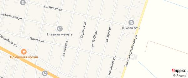 Улица Победы на карте села Нижний-Нойбер с номерами домов