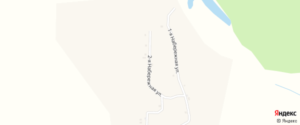 Набережная 2-я улица на карте села Ряпино с номерами домов