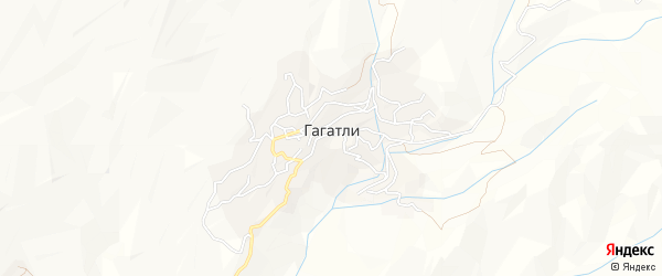Карта села Гагатли в Дагестане с улицами и номерами домов